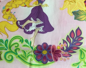 """Rapunzel Princess Fabric   17 x 24"""""""