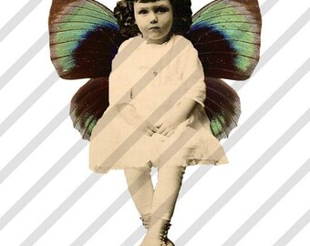 Digital Collage Sheet Fairies With Wings 1 (Sheet no. FW1) Instant Download