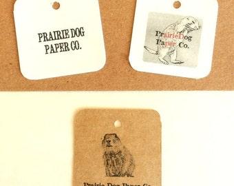 Geschenkanhänger, Produkt-Label, 2 x 2 Zoll leer oder personalisierte, Satz von 50, Kraft-Tags, gedruckt tags