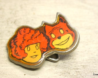 Vintage Little Orphan Annie and Sandy Belt Buckle - 1980 - Lee Fashions