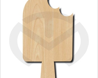 Popsicle  -  01554- Unfinished Wood Laser Cutout , Door Hanger, Wreath Accent, Ready to Paint & Personalize, Various Sizes