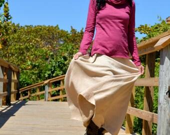 Hemp skirt custom made and hand dyed // organic clothing // eco-friendly // hemp clothing // maxi skirt
