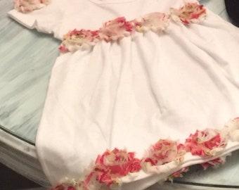 The Sandra- Pretty Floral Dress w/ matching headband