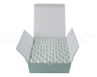 144 Size A White Prewound Bobbins - SA156 Replacement Bobbins - Class 15 - For Brother Embroidery Machines - See Compatibility List