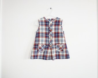 Vintage Plaid Baby Dress