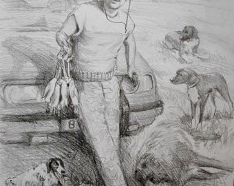 custom sketch,pencil sketch, pencil sketch, portrait from photo,