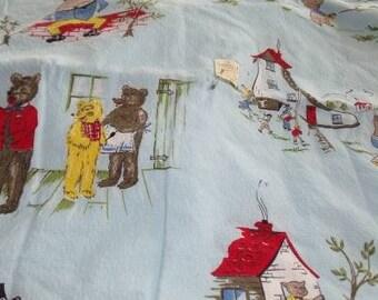 Nursery Rhyme Bark Cloth -Two Pieces