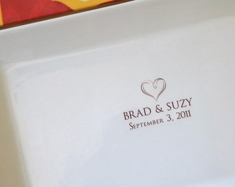 Wedding or Anniversary Guest Book Platter with Heart up to 100 Signatures