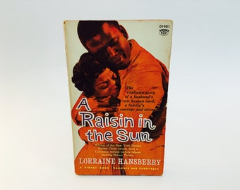 Vintage Pop Culture Book A Raisin In The Sun Screenplay 1961 Edition Paperback Classic