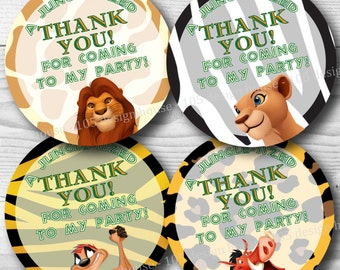 Lion King Favor Tag Printable 2.5 inch Favor Tags INSTANT DOWNLOAD- Lion King Favor Tags - Lion King Tags - Printable Lion King Gift Tags