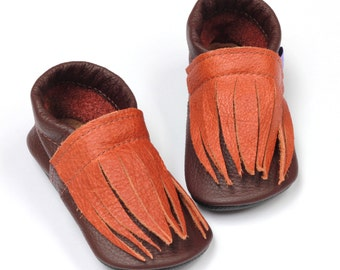 CLEARANCE Leather baby shoes handmade moccasins toddler halloween costume