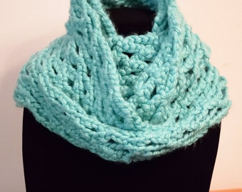 Baby Blue Crocheted Infinity Scarf/Cowl