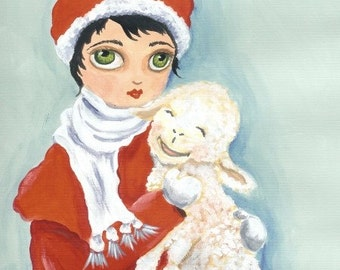 ACEO My Little Lamb Limited Edition Print Limited to 20
