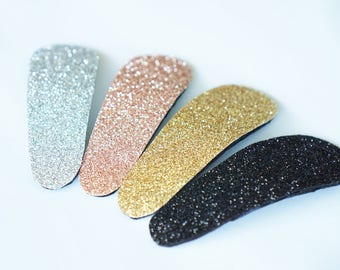 Big Glitter Snap Clip in 4 Colors