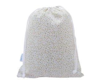 Wash Bag Womens, Girls Toiletry Bag, Make Up Bag - Blue Floral