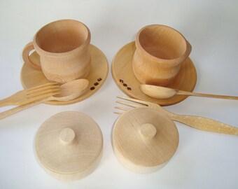 Play kitchen wood set. Wooden toys. Wooden set.
