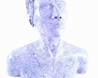 Buste argile polymère imitation marbre