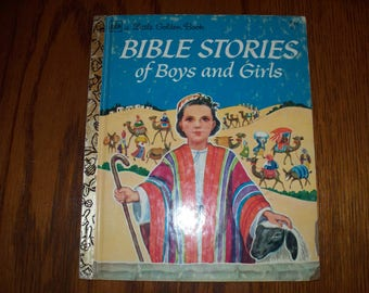 """Little Golden Book #171 """"Bible Stories of Boys and Girls"""" Retold by Jane Werner 1976"""