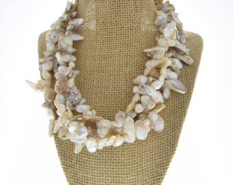 Nugget Pearl muli strand necklace , 4 strand , sold by each custom made
