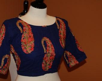 saree blouse choli indian kashmiri embroidery sari crop top