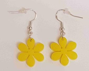 Flower Earrings 6 petals - Acrylic