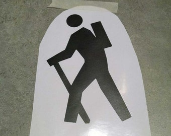 Hiker Vinyl Decal