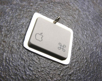 Sterling Silver Recycled Apple Key - Pendant Only
