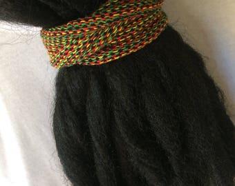 Dreadlock Accessories, Rasta, Dreadlock Hair Tie, Hair Ties for Dreads, Rasta Dreadlocks, Dreadlock Ties, Dread Hair Ties, Dread Ponytail