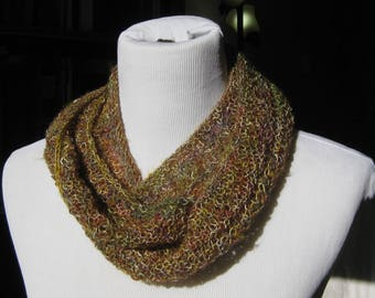 """Infinity Scarf/Cowl, Cotton/Acrylic/Polyester Blend, 4"""" x 50"""""""
