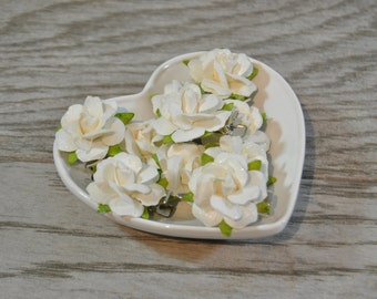 White Rose Clips - White Bridal Hair Clips - White Floral Clips - White Bridal Hair Flowers - White Flower Clip - Bridal Hair Adornments