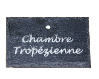 Applique slate natural 7 cm x 5 cm