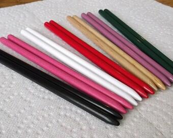 Fun Painted Straight Hairsticks or Shawl Sticks