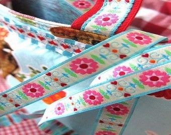 Floral Ribbon, 12mm the meter farbenmix Ribbon