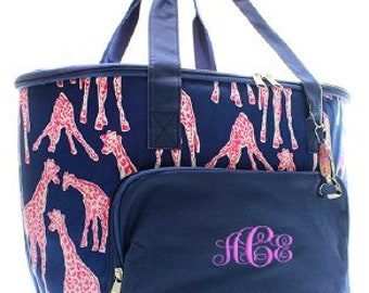 Monogrammed/Personalized Giraffe Insulated Cooler Tote/Bag