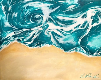Ocean Abstract Acrylic Painting