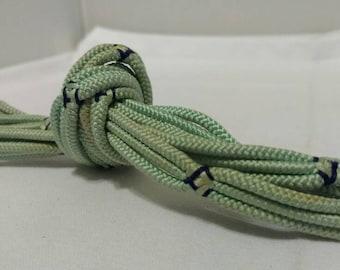 Mint Green & Navy Braided Obijime
