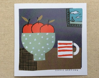 Red Apples and Cup card