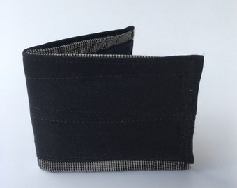 Bifold wallet, men's wallet, recycled wallet, fabric wallet, upcycled wallet