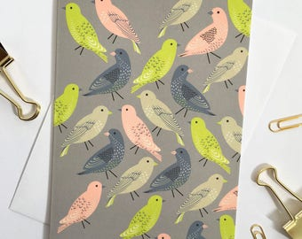 Bird print Greetings card  / Blank inside with envelope supplied / Note card / Stationary