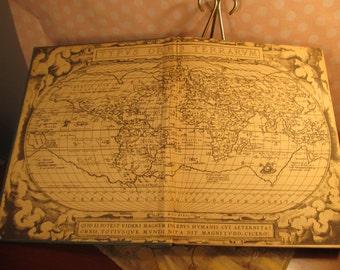 1941 Rand McNally World Atlas International Edition; hard cover; mid-century book