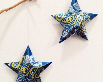 Sweet As Pacific Ale GoodLife Brewing Co, Beer Stars, Christmas Ornaments, Upcycled Aluminum Can, Recycled