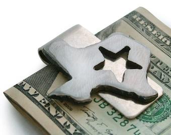 Texas Money Clip /  Gift for Best Man, Groomsmen Gift, Wedding / Birthday / Handmade by WATTO Distinctive Metal Wear