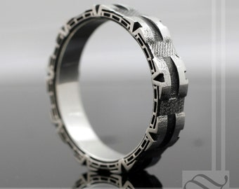 Stargate Ring - Sterling Silver A Geeky Wedding Band