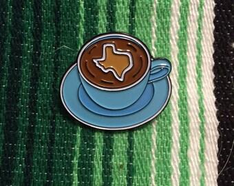 Texas Coffee, the enamel pin