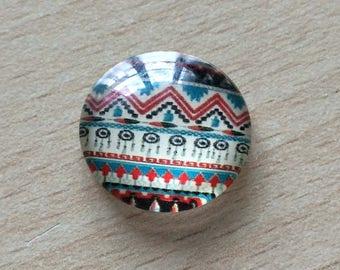 Nice geometry 09 pattern glass cabochon pendant