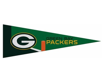 """Green Bay Packers Small NFL Pennant, 5"""" x 15"""""""