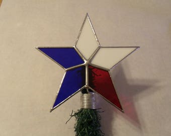 Patriotic Tree Topper for Small Trees, Table Top Free Standing Texas Star
