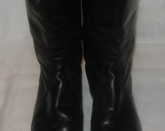 Vintage German Army Officer chrome  Riding Boots size 42 (EU 43, US 9)