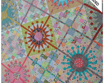 Queens Cross quilt pattern and templates from Jen Kingwell
