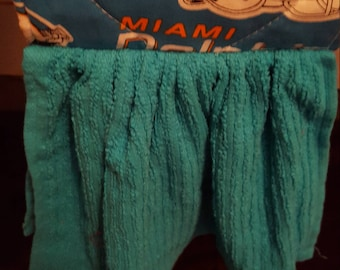 Dolphins hanging kitchen towel